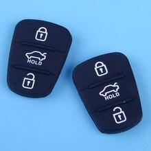 DWCX-clé sans clé Silicone   2 pièces, télécommande, 3 boutons, adapté pour Hyundai I30 IX35 Kia Seed pro Picanto Sportage