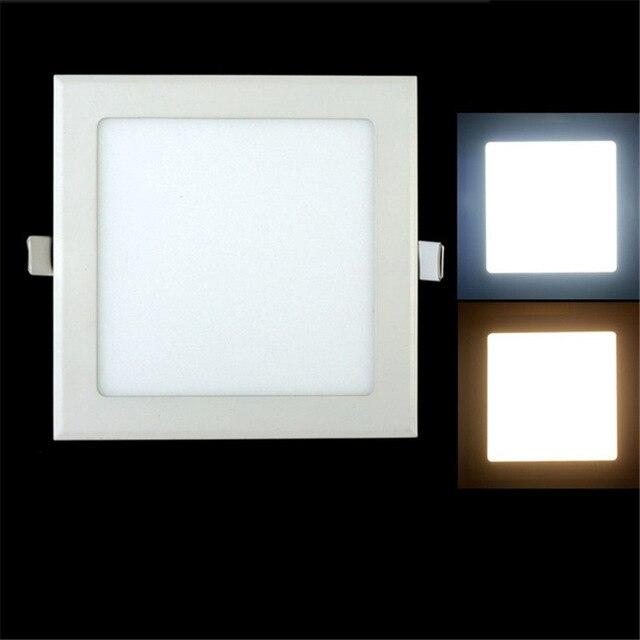 AC 12V/24V 3W-25W Square LED Ceiling Light Recessed Kitchen Bathroom Lamp LED Down light Warm White/Cool White +Driver