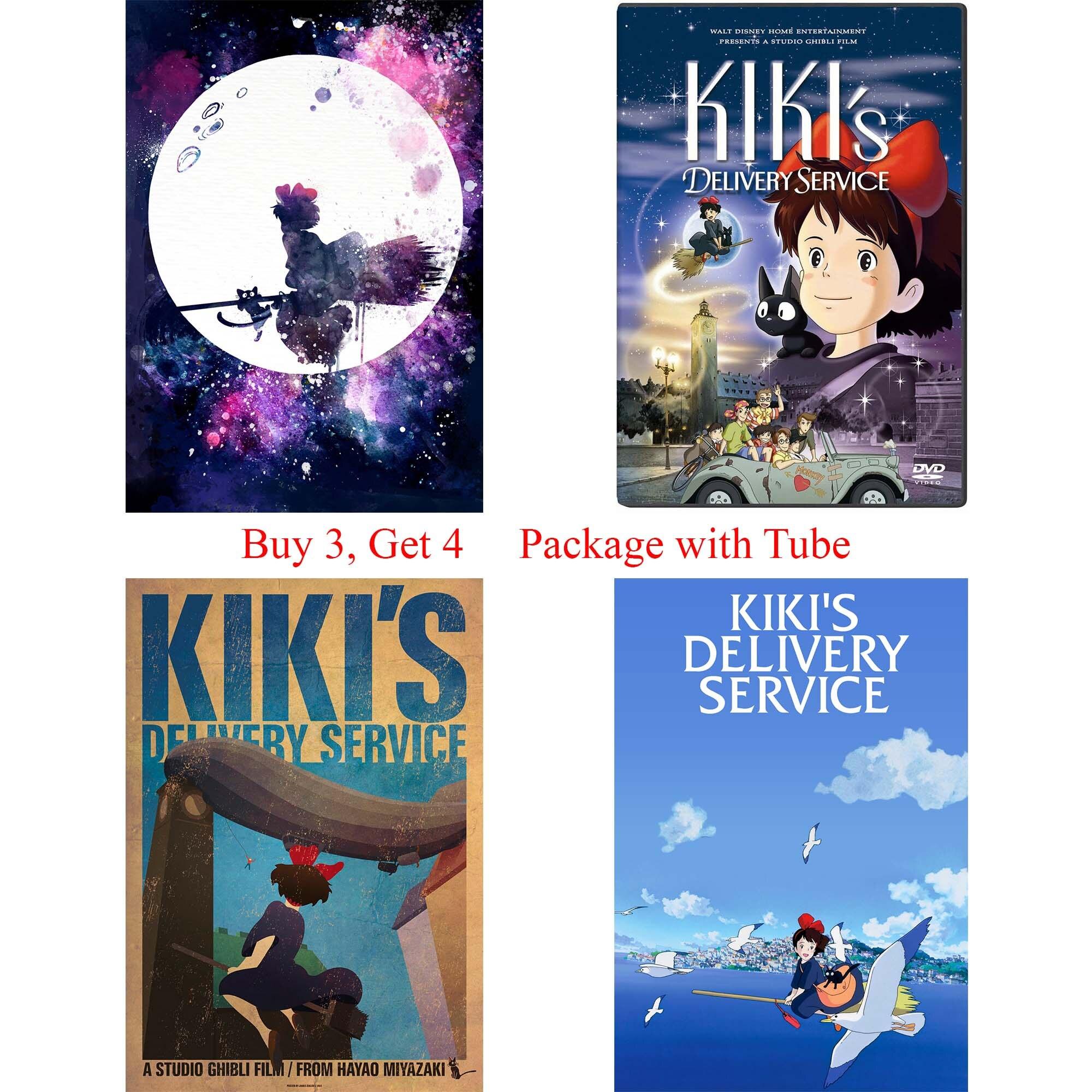 KIKIS usługi dostawy plakaty Cartoon naklejki ścienne dziewczyna w pokoju papier dekoracyjny drukuje domu sztuki