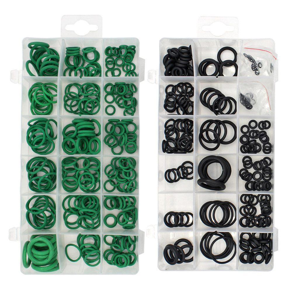 495 шт 36 размеров набор уплотнительных колец черный и зеленый метрические уплотнительные кольца резиновые уплотнительные прокладки маслостойкость 270 шт + 225 шт