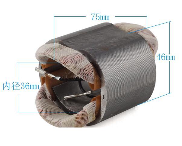 AC220V carcasa de acero inoxidable 4 cables de motor estator para Bosch GWS5-100 6-100
