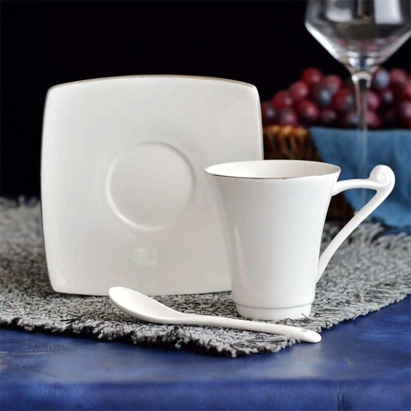 180 مللي الجانب الفضة السيراميك فنجان القهوة فندق مطعم المنزل التجاري السيراميك فنجان القهوة و مجموعة أطباق