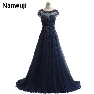 Real Sample Beaded  Evening Dresses With Sweep Train Cap Sleeveless Prom Dresses 2016 Party Gowns In Stock