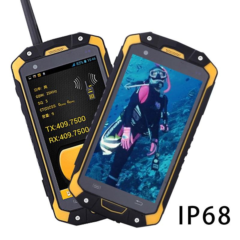 IP68 POC مقاوم للماء اسلكية تخاطب handphone إنترفون سماعة راديو محمول هاتف محمول ذكي لاسلكي تخاطب الهاتف ptt UHF