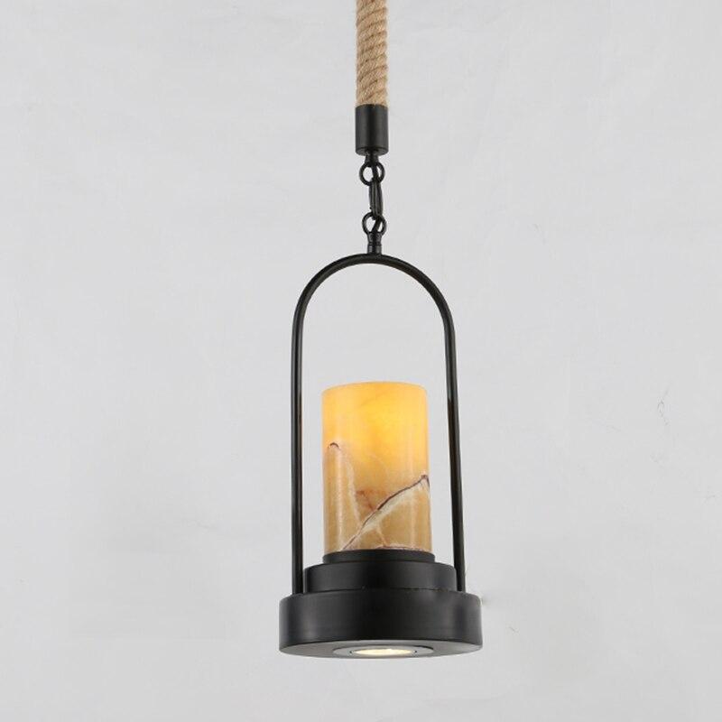 الأمريكية الرجعية الشمعدان قلادة أضواء الرخام الشمال الإضاءة مقهى مطعم شمعة مصابيح متدلية نجفة المنزل G158