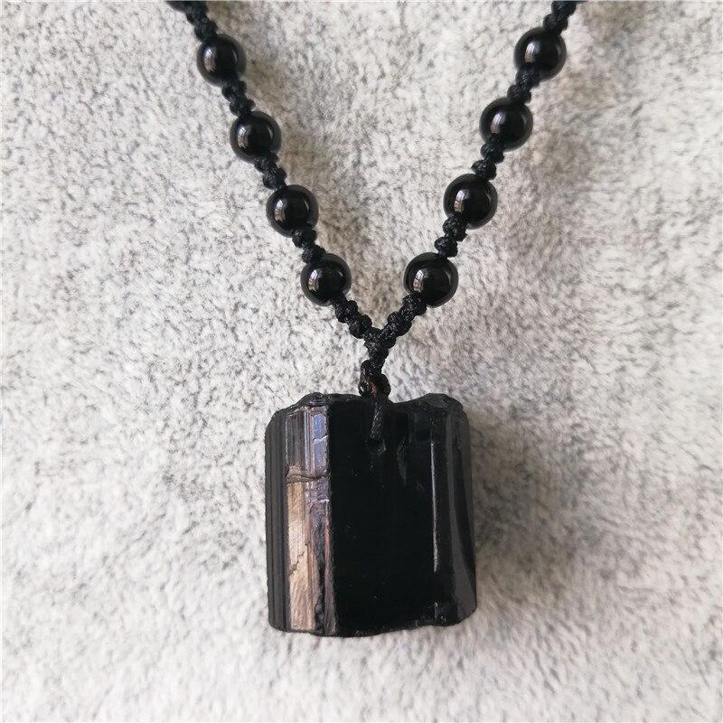 Minério de turmalina Natural preto pingente de cristal natural turmalina preta nunatak chakra energia pedra de purificação de energia pingente