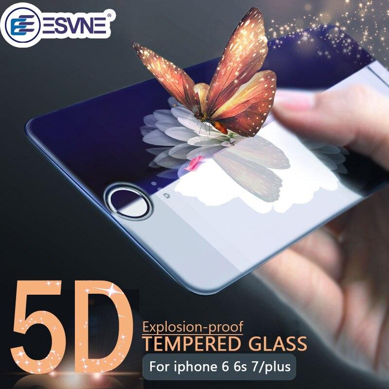 ESVNE (3nd Gen 3D 2nd gen4D ) 5D изогнутый край Полное покрытие закаленное Стекло для iPhone 7 Стекло 7 Plus защитное стекло на айфон 7 Стекло Экран протектор Плёнка