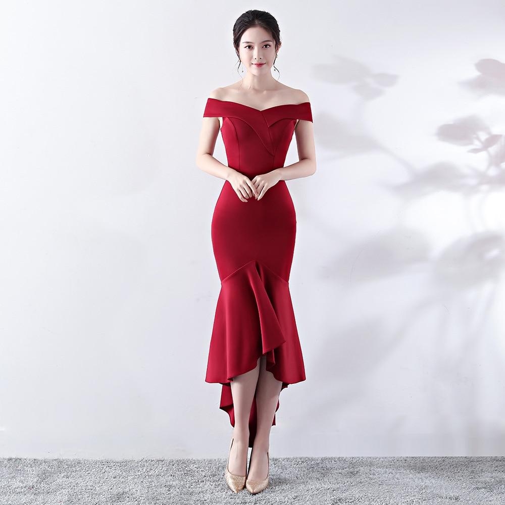 Corstory Elegant Club Dress Women Wine Off Shoulder Short Sleeve Knee-Length Celebrity Runway Dress Evening Party Dress Vestidos