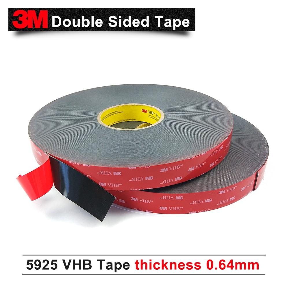 3 متر VHB 5925 يموت قطع الشريط إلى 10 ملليمتر العرض/أسود اللون/0.64 ملليمتر سمك الاكريليك رغوة الشريط جدا عالية الترابط 5925 3 متر شريط لاصق