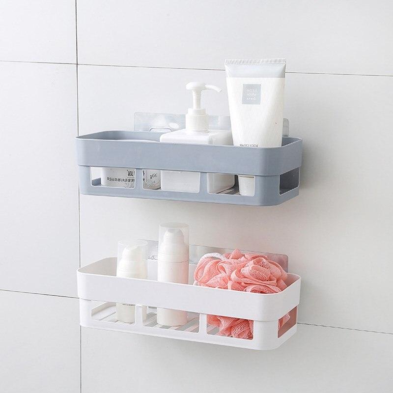 Accesorios de cocina de plástico, 1 pieza, estante para fregadero, doble ventosa, estante de drenaje de esponja sin rastro, bastidores de almacenamiento multifunción mx3221633
