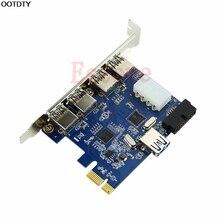 5 Ports PCI-E PCI Express Card zu USB 3.0 + 19 Pin Stecker 4 Pin Adapter Für Win