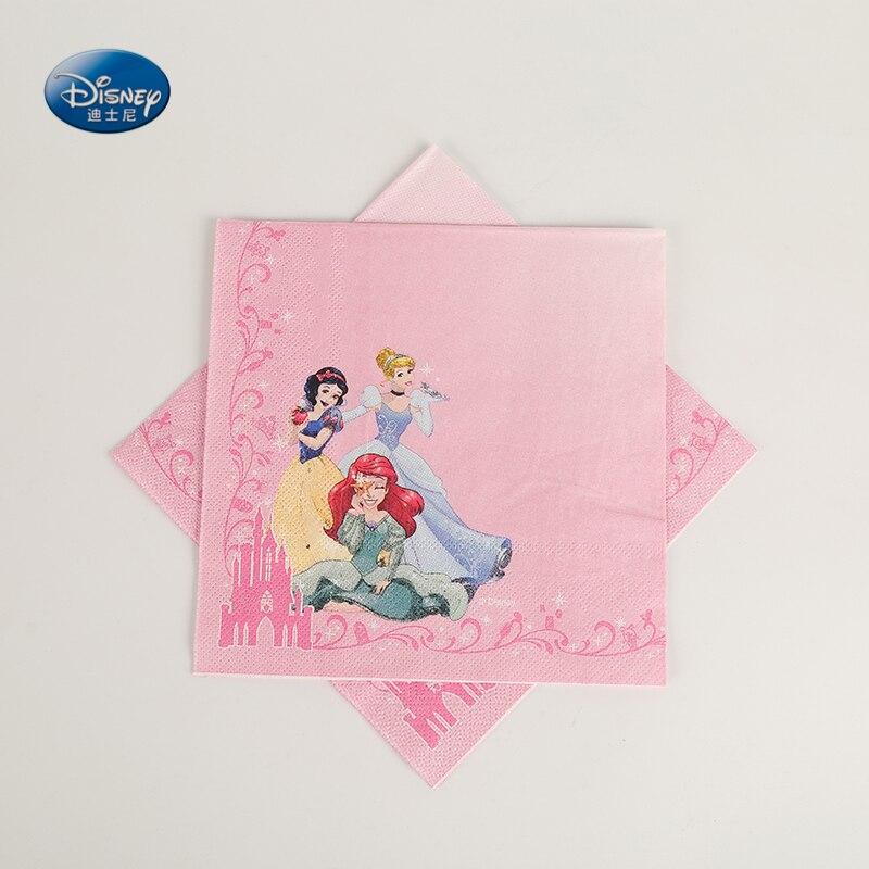 10 шт./лот, бумажная салфетка принцессы для вечеринки, украшения на день рождения, принадлежности для детской вечеринки