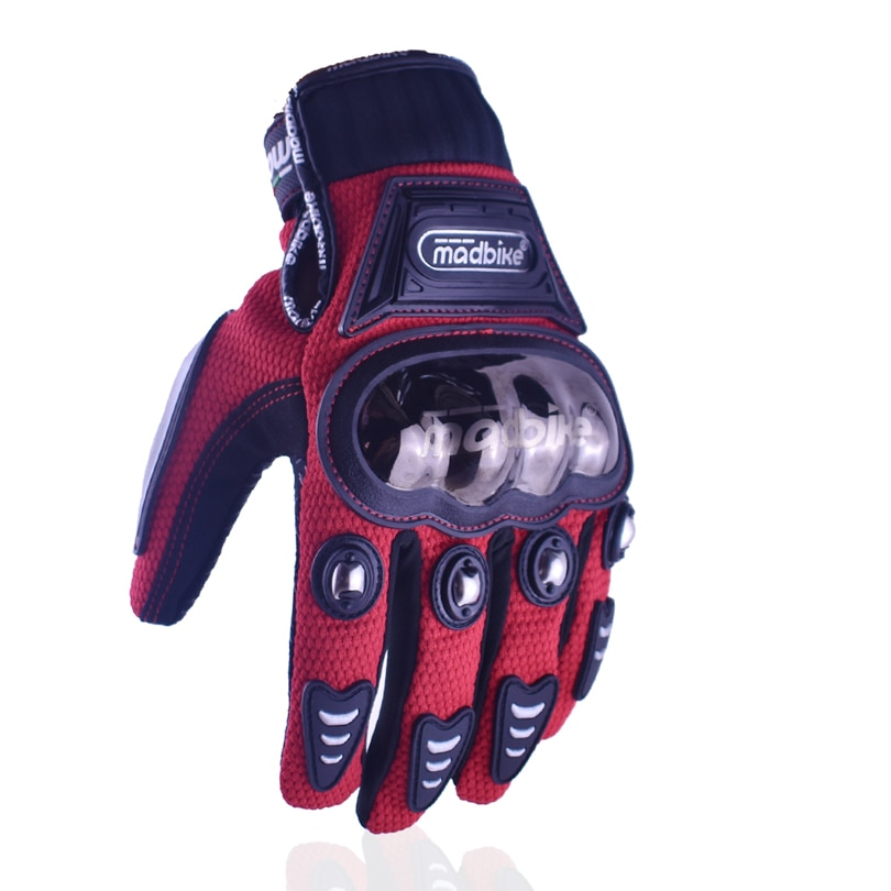Madbike-guantes de carreras de dedos completos para ciclismo, negros