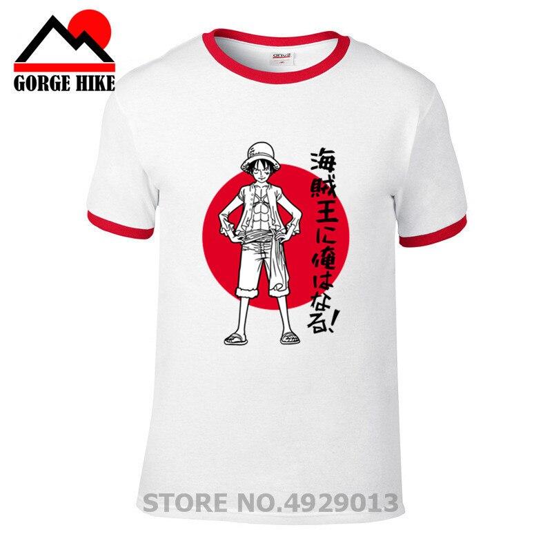 Real Hombre Foodie Luffy Gum Men 2019 impreso para hombre Camiseta de una pieza de dibujos animados Anime camiseta Hip Hop moda camisetas pirata King