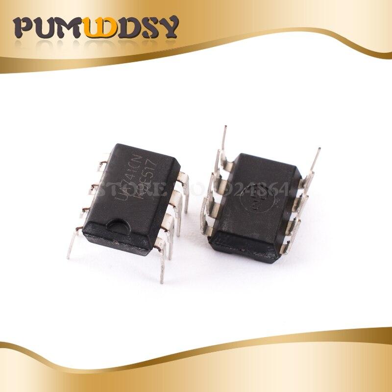 10 шт. Бесплатная доставка DIP IC 8 контактов UA741CN UA741CP UA741 Amp LM741 741 Оригинал DIP-8