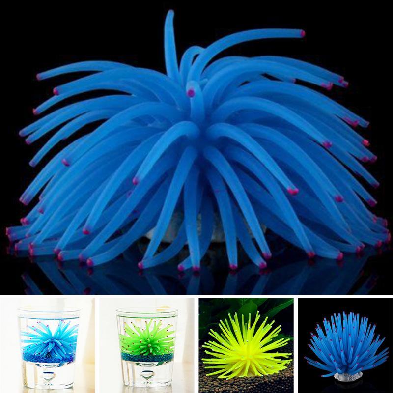 New Soft Colorful Artificial Silicone Coral Fish Tank Aquarium Decoration Best Home Ornament random color #2