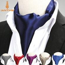 Cravate en Polyester Jacquard pour hommes   Couleur unie, rouge marine, nouveauté mariage Slim, cravate pour hommes, nouvelle marque 2018