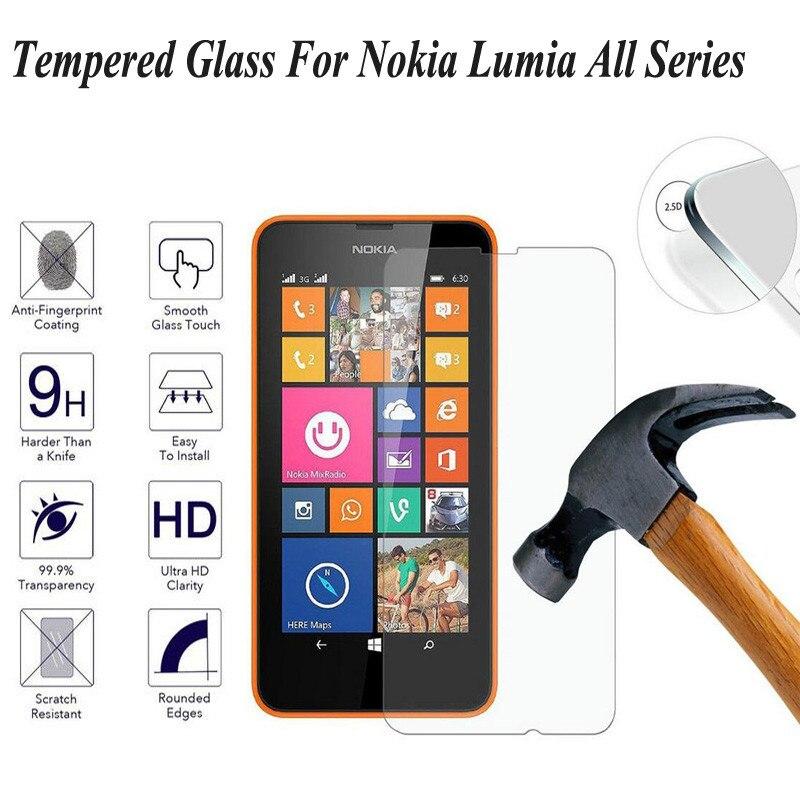 De vidrio templado 9H para Microsoft lumia 535 650, 640, 630, 635...