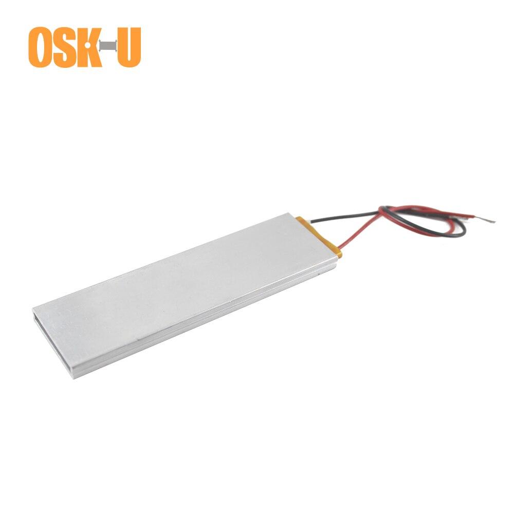 Elemento calefactor termostático PTC de 100x30x6mm, 220V 65/70/270/120/100 grados Celsius, placa calefactora PTC de agua de potencia 20/25/200/60W