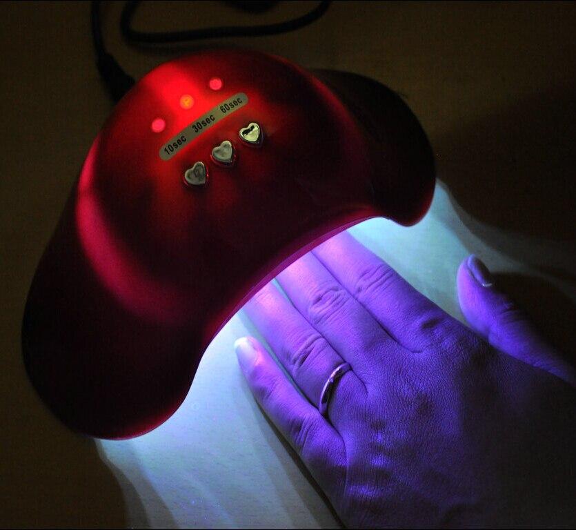Lámpara Led 2016 CCFL de 12w 110v/240v, lámpara ultravioleta para terapia de secado de uñas, lámpara UV para curado de Gel, secador de esmalte de uñas para manicura