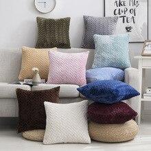 Taie doreiller 45*45 carré décoratif oreillers décor à la maison velours housse de coussin pour salon chambre canapé salon décoration