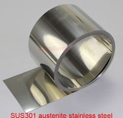 301 aço inoxidável-mola sus301 austenite aço inoxidável 0.05mm 0.06mm 0.07mm 0.08mm 0.09mm 0.1mm 0.15mm 0.2mm 0.25mm mm mm mm mm