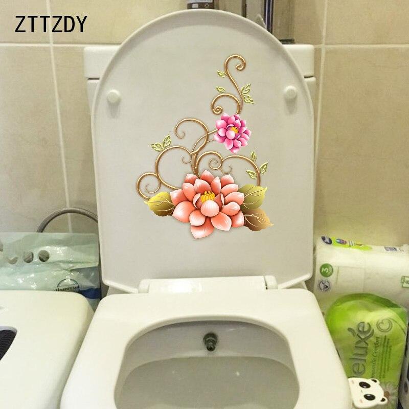 ZTTZDY 17*23.3 CENTÍMETROS Lindo Da Videira Da Flor Decoração Do Banheiro Banheiro Adesivo Decalque Home Da Parede T2-0065