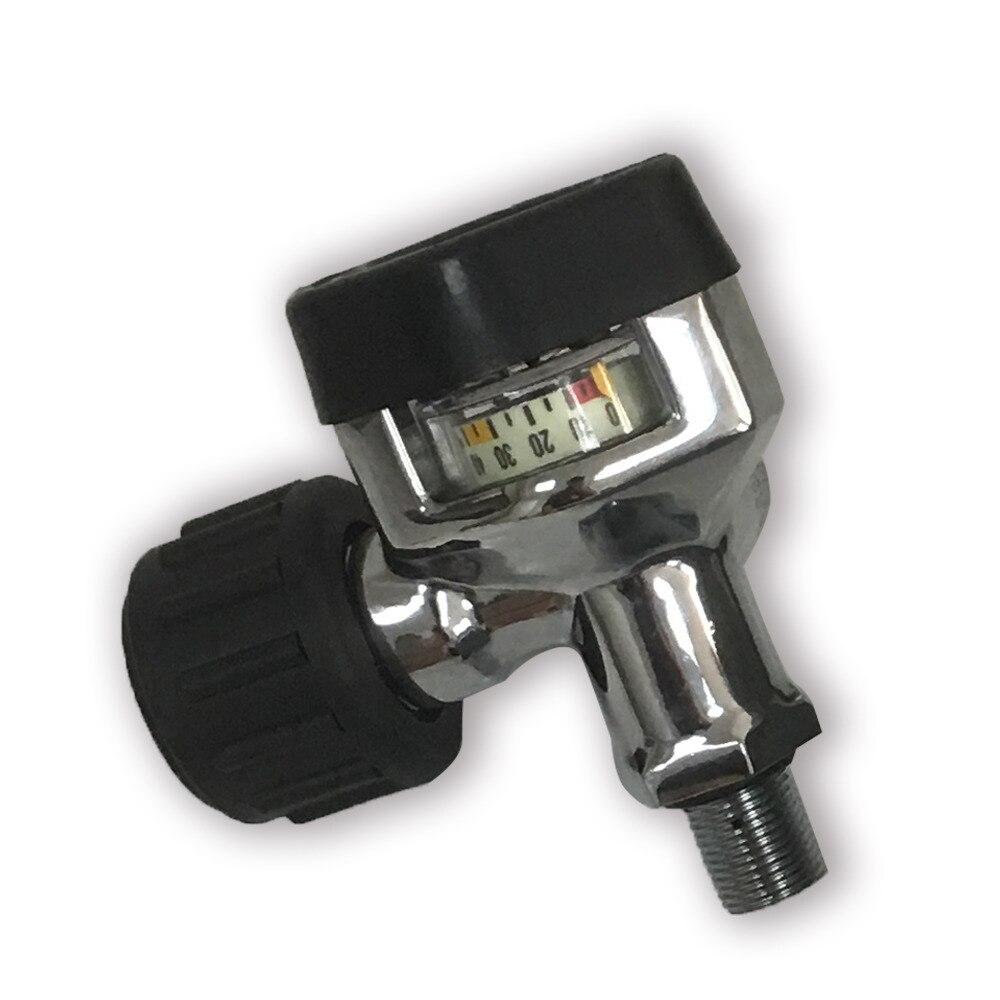 AC921 горячий продажа 30Mpa 4500psi SCBA углеродное волокно бак сжатого воздуха цилиндр клапан с большим манометром Прямая поставка