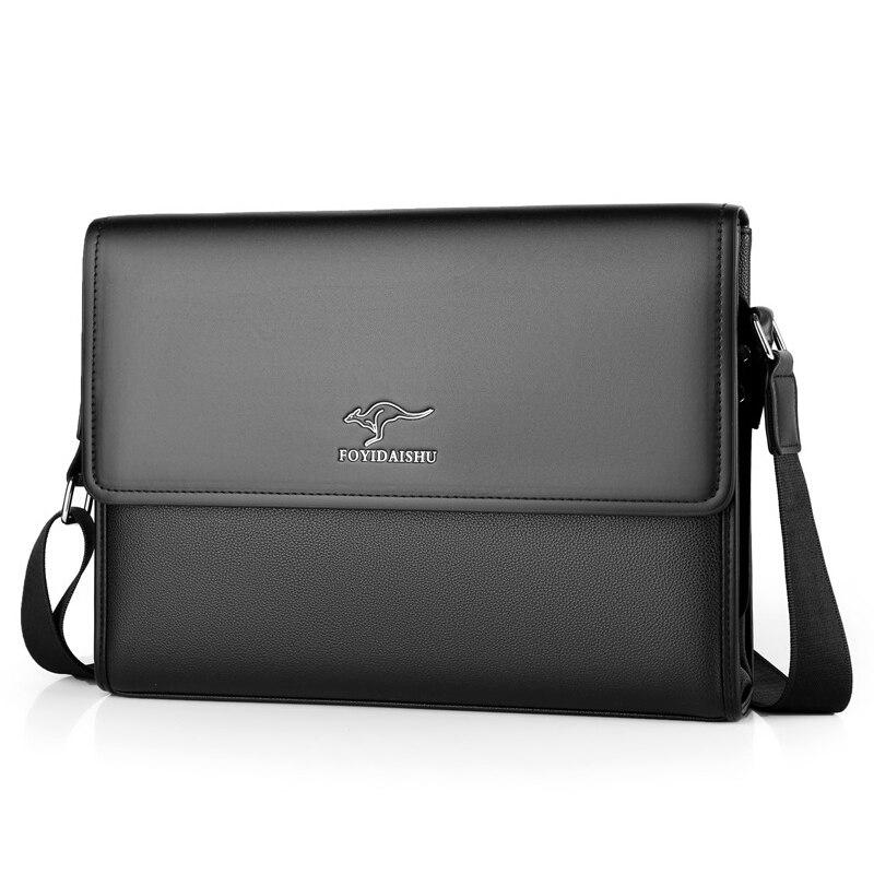 Business Shoulder Bag Men Messenger Bag Brand kangaroo vintage PU Leather Crossbody bag for male Fashion Casual Man Handbags