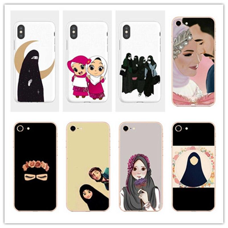 Мусульманские исламские глаза для девочек арабский хиджаб для девочек мягкий силиконовый чехол из ТПУ для iphone 5 6 7 8 PLUS X XR XSmax 11 Coque Capa