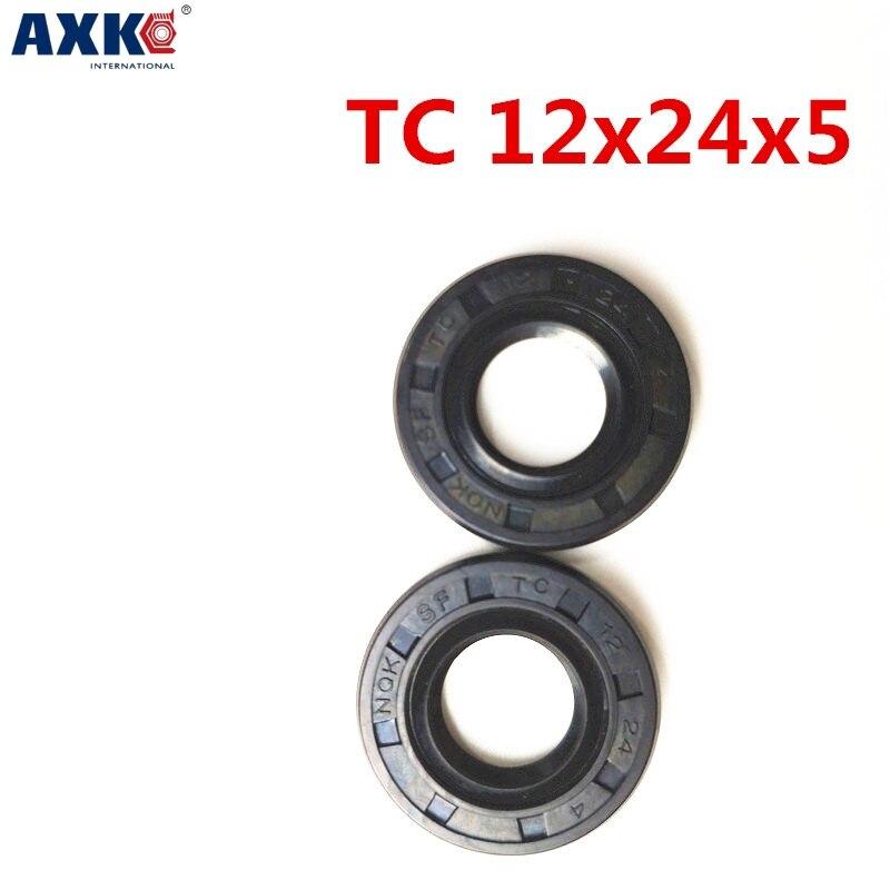 10pcs AXK  12X24X5 TC12X24X5 NBR Skeleton Oil Seal 12*24*5 Seals AXK  high-quality Seals Radial shaft seals 10pcs axk 25x47x7 tc25x47x7 nbr skeleton oil seal 25 47 7 seals axk high quality seals radial shaft seals nitrile rubber