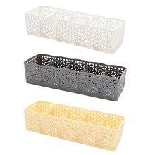Durable 5 Zellen Kunststoff Organizer Lagerung Box Krawatte Bh Socken Schublade Kosmetische Teiler Ordentlich Dropshipping 27cm x 6,5 cm x 8,5 cm 712