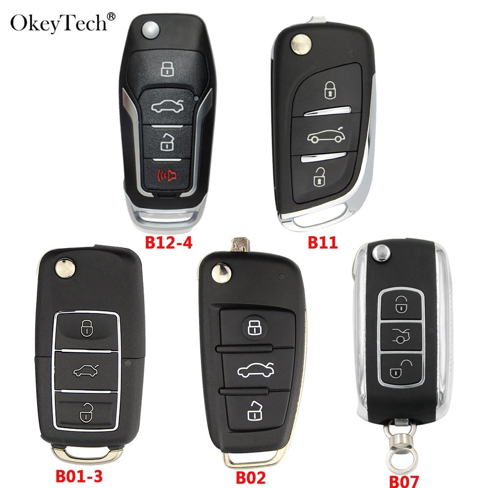 Okeytech 5 piezas Original serie B KD Control remoto para llave de coche para máquina KD KD900/KD200/URG200 /KD300 B12-3 B01-3 B07 B11 B02