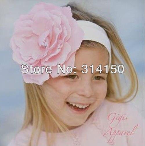 Baby girl hairband fashion big flower + elastic band design children cute popular hair accessories 1pcs
