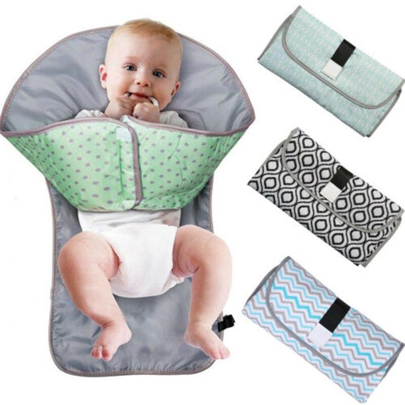 3-в-1 Многофункциональный портативный детский складной коврик для мочи, водонепроницаемый мешок для подгузников, пеленки, Сменный Чехол, коврик для путешествий на открытом воздухе