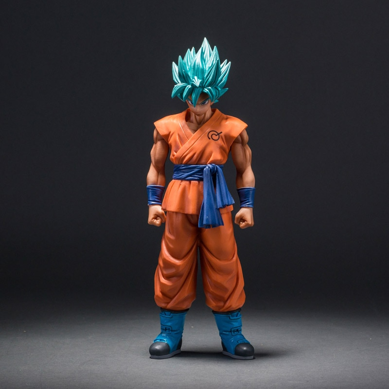 MSP Dragon Ball Z Super Saiyan God Son Goku Action Figure Blue Hair Goku 25CM DragonBall PVC Collection Model Toy Doll