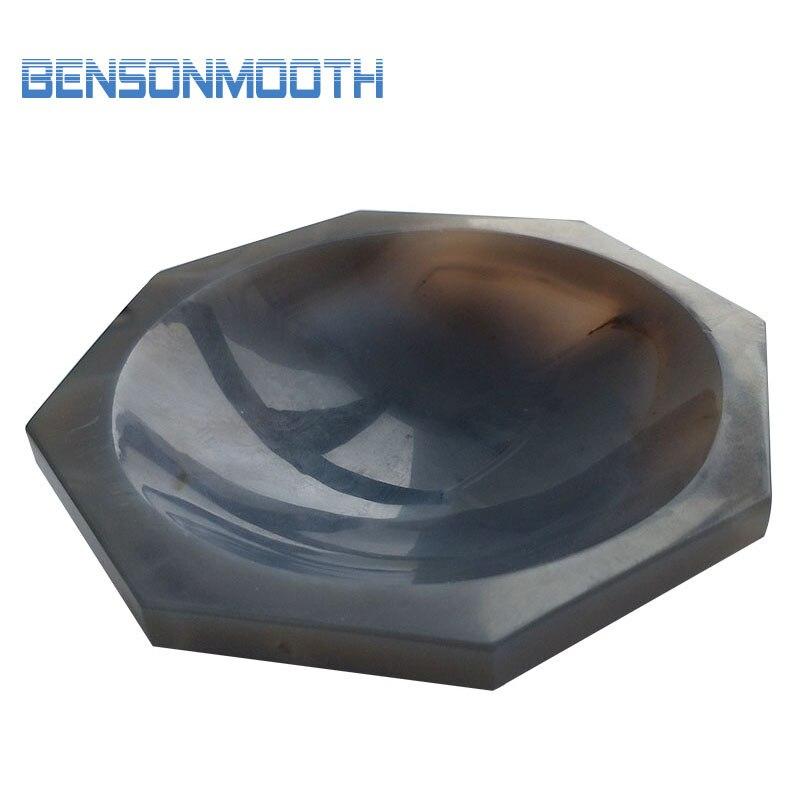 Mortero y mortero de ágata Natural OD = 100 mm 4 pulgadas de molienda de laboratorio
