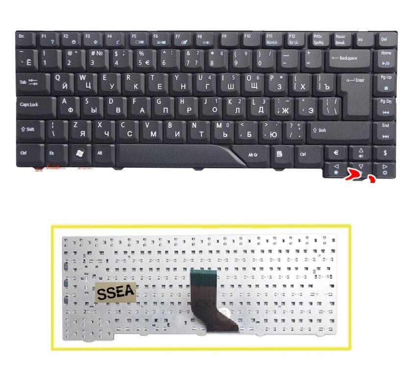 SSEA-teclado ruso para ordenador portátil, teclado ruso para Acer Aspire 5715, 5715Z,...