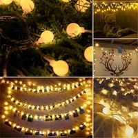 5m 50 led garland usb 5v ball fairy string lights for new year christmas festival party wedding lamp home decoration led light