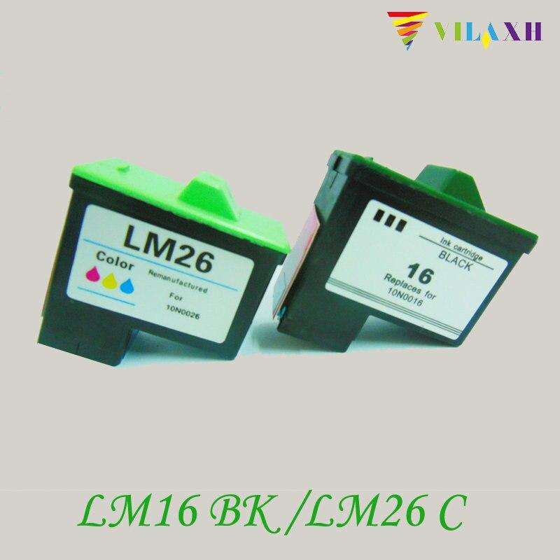 vilaxh For Lexmark 16 26 Ink Cartridge For Lexmark Z615 Z25 Z33 Z35 z617 i3 Z13 Z23 Z513 Z515 Z603 Z605 Z611 Z645 X2250 X74