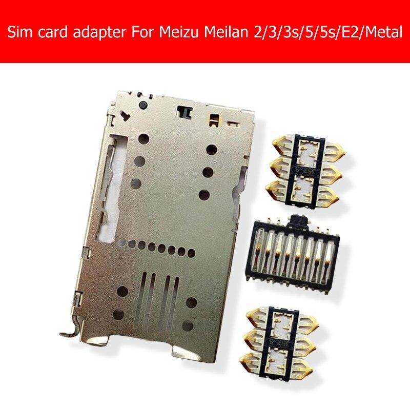 Adaptador de cartão sim soquete para meizu meilan 2/3/3s/5/5S/es/metal/x5 pro leitor de cartão sim suporte + conector interno substituição do painel