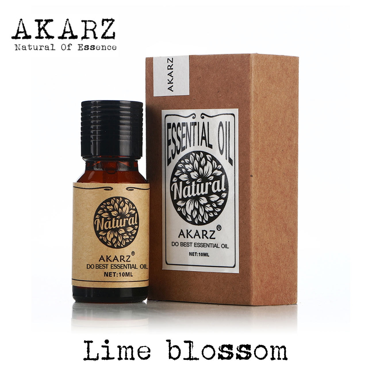 AKARZ Famous brand natural Lime blossom essential oil skin is more compact liver conditioning Lime blossom oil