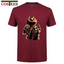 Humor Cookie monstre chemise coton t-shirt drôle hommes t-shirt MMA t-shirt monstre combattant Tee Cool sésame rue UFC Conor teeshirt