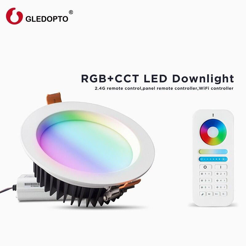 G светодиодный OPTO 2 4 ГГц беспроводной RGB + CCT светильник AC100 240V 6 зонный пульт