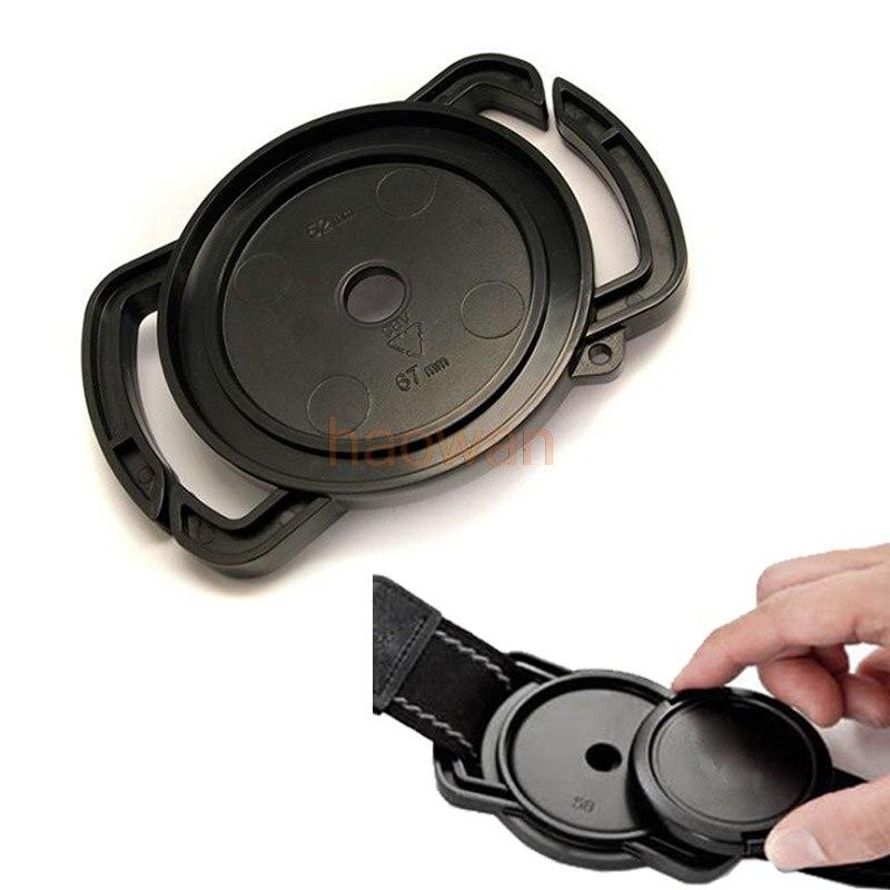 Câmera fivela universal lente tampa titular anti-losing para 40.5 43 49 52 55 58 62 67 72 77 82 mm tamanho canon nikon sony pentax
