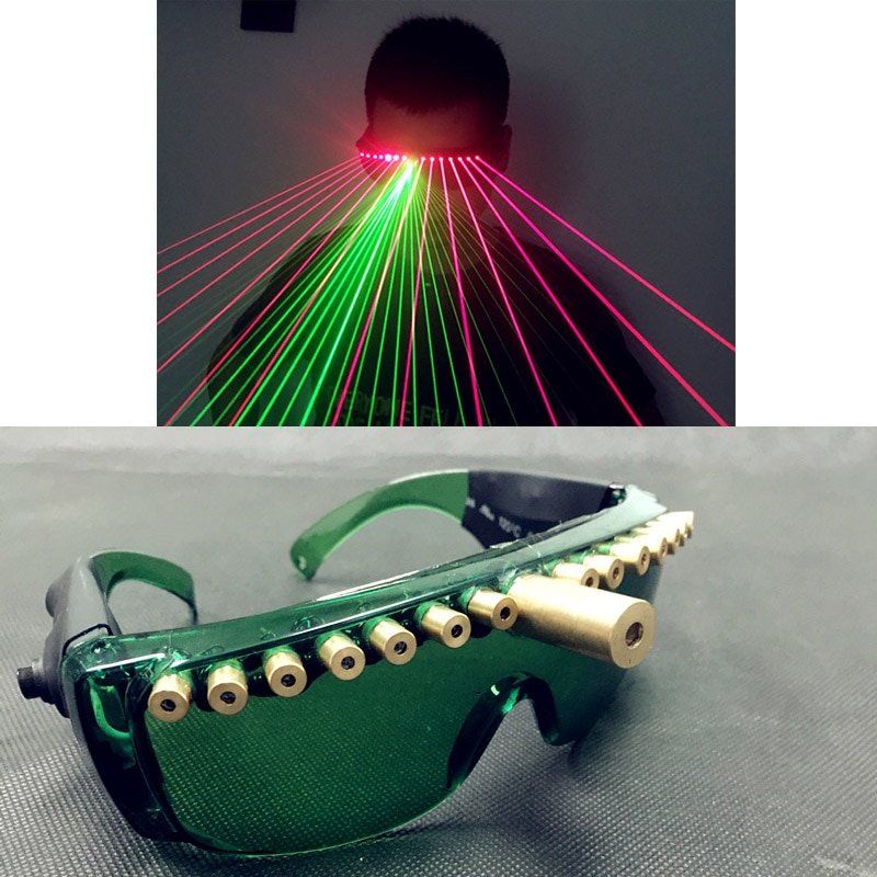 Laser Light Glasses Nightclub Nerformers Party Green Red Glowing Glasses Laser Game Dancing Stage Show DJ Club Party