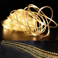 the longest 10m 100m street garland string fairy lights waterproof rope light for house tube outdoor garden christmas decoration