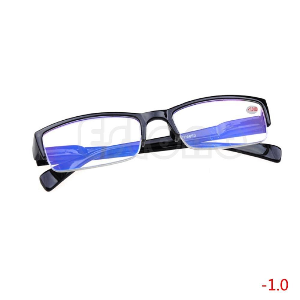 1 PC New Semi-rimless Eyeglass Myopia Glasses Black Frames -1 -1.5 -2 -2.5 -3 -3.5 -4   Christmas Gifts