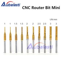 CNC Machine Router Bit Mini PCB Carbide End Mill Tools 3.175 Diameter use for  cnc router bits