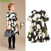 Girls Dresses Summer 2018 New Princess Disfraz Infantil Flower Girls Party Dresses Printed Dress For Girls Kids Clothes